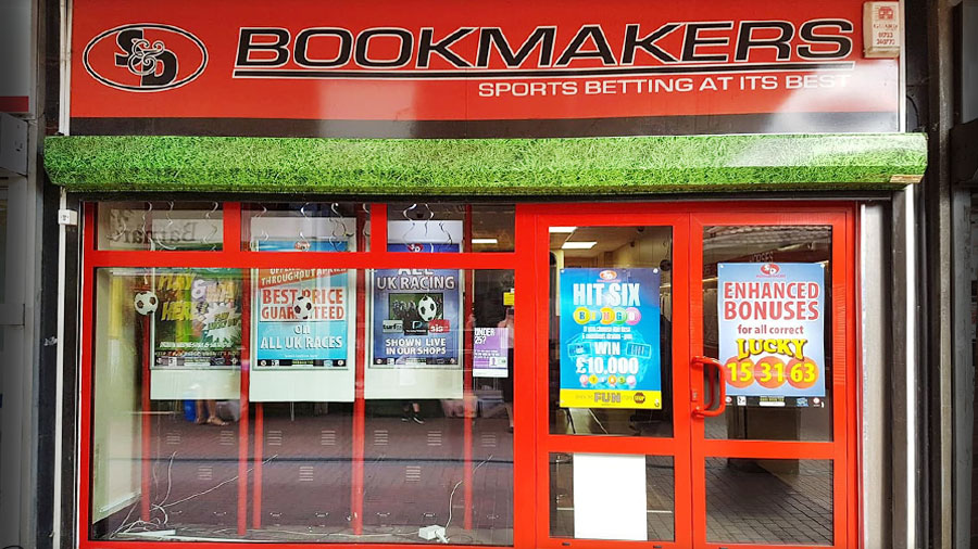 S & D Bookmakers Yaxley Peterborough branch